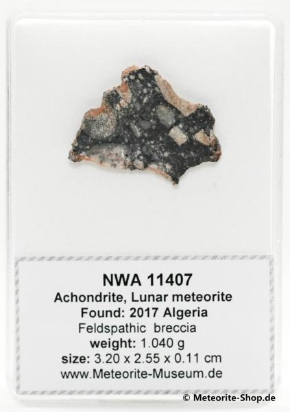 NWA 11407 Mond Meteorit - 1,04 g
