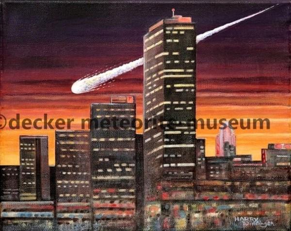 Mifflin Meteoritenfall Gemälde (Motiv II)