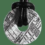 Eisen-Meteorit-Anhänger (Muonionalusta | Donut | Kl. Ø | Rhodiniert)
