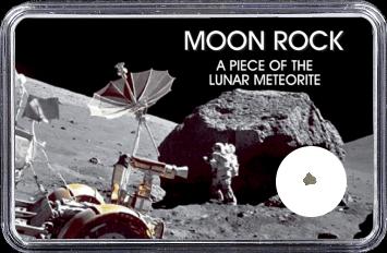 Mond Meteorit NWA 4881 (Motiv: Astronaut mit Mond-Technik)