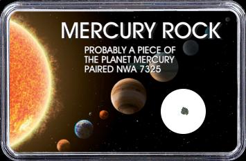 Merkur Meteorit NWA 7325 (Motiv: Sonnensystem Planeten III) - 11,00 mg
