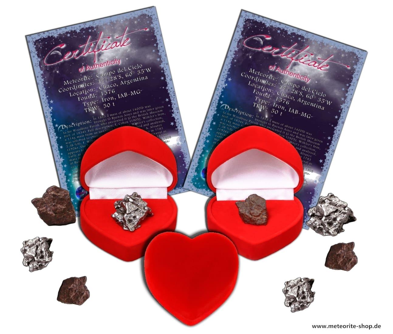 Sternschnuppe für die Freundin als Geschenk zum Valentinstag, zur Verlobung oder Hochzeitsantrag