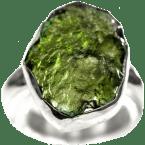 Moldavit-Ringe (Tektit | Natura | 925er Silber)