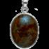 Kategorie Stein-Meteorit-Anhänger (NWA 869 | Cabochon | 925er Silber)