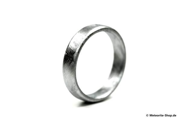 Eisen-Meteorit Ring (Muonionalusta | Unisex | Bombiert | Veredelt) - 3,80 bis 5,00 g