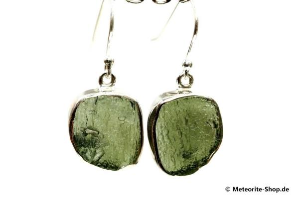 Moldavit-Ohrringe (Tektit   Natura   925er Silber) - 3,30 g