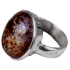 Kategorie Stein-Meteorit Ringe (NWA 869 | Cabochon | 925er Silber)
