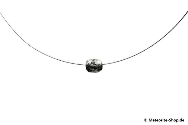 Eisen-Meteorit Collier & Halskette (Muonionalusta | Ellipsoid | Versiegelt) - 1,75 g