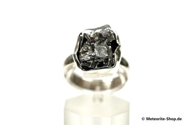 Eisen-Meteorit-Ring (Campo del Cielo | Gefasst | Gr. 57 | 925er Silber) - 7,40 g