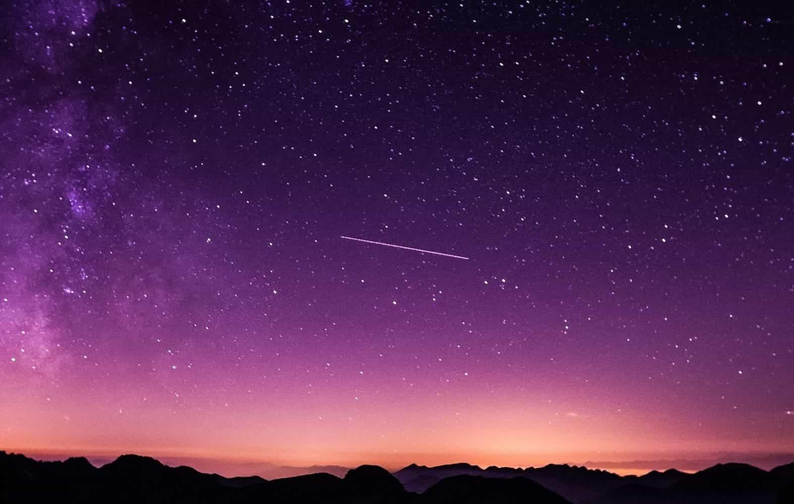 Ideale Bedingungen für eine Sternschnuppennacht: Klare und ungestörte Sicht auf den Sternenhimmel und die Milchstraße