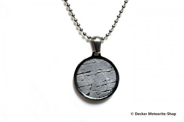 Stein-Eisen-Meteorit-Anhänger (Seymchan | Scheibe | Natura) - 3,20 g