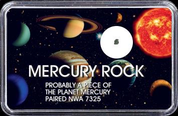 Merkur Meteorit NWA 7325 (Motiv: Sonnensystem Planeten V)