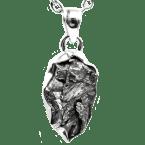 Eisen-Meteorit-Anhänger (Campo del Cielo | Gefasst | 925er Silber)