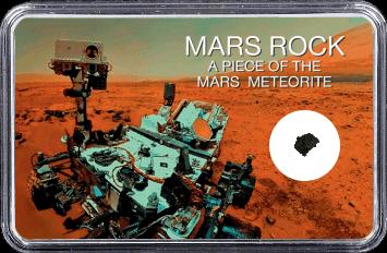 Mars Meteorit NWA 6963 (Motiv: Mars Rover Curiosity Selfie II)