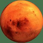 Echter Mars Meteorit und Marsgestein vom roten Planeten