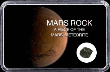 Mars Meteorit NWA 6963 (Motiv: Planet Mars braune Sanddüne)