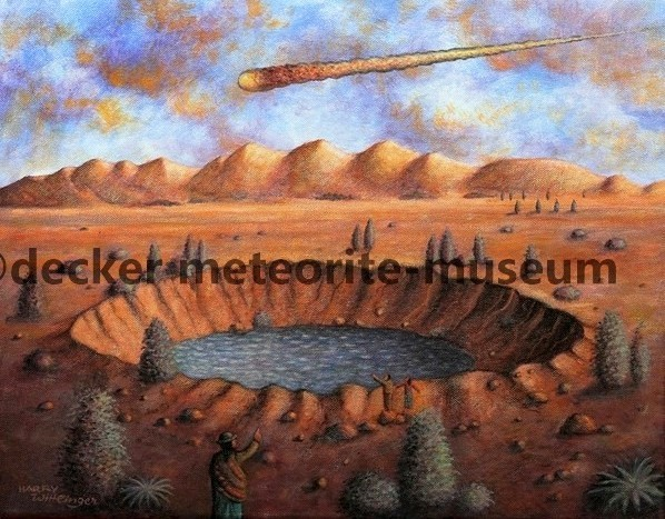 Carancas Meteoritenfall Gemälde (Motiv II)