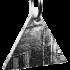 Kategorie Eisen-Meteorit-Anhänger (Muonionalusta | Dreieck | Rhodiniert)