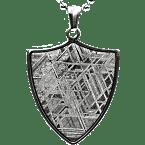 Eisen-Meteorit-Anhänger (Muonionalusta | Schild)