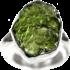 Kategorie Moldavit-Ringe (Tektit | Natura | 925er Silber)