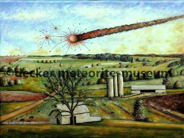 Mifflin Meteoritenfall Gemälde (Motiv I)
