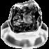 Kategorie Eisen-Meteorit Ringe (Campo del Cielo | Gefasst | 925er Silber)