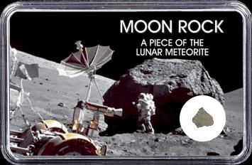 Mond Meteorit NWA 10317 (Motiv: Astronaut mit Mond-Technik)
