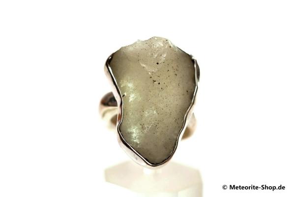 Libyscher Wüstenglas-Ring (Impaktglas | Natura | Gr. 56 | 925er Silber) - 6,40 g