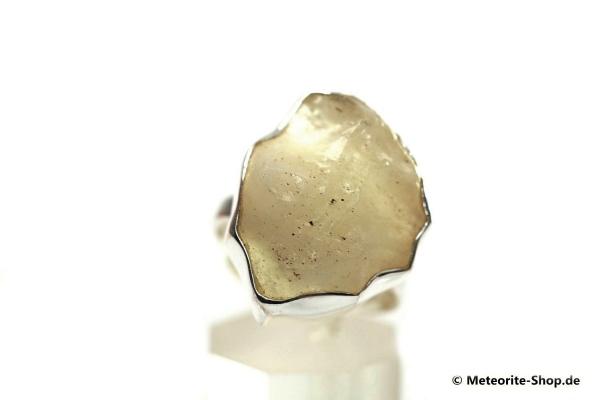 Libyscher Wüstenglas-Ring (Impaktglas | Natura | Gr. 60 | 925er Silber) - 6,80 g
