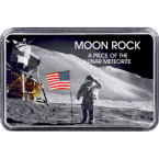Echtes Mondgestein in Motiv-Dosen der NASA Mondlandung zum Sammeln und Verschenken