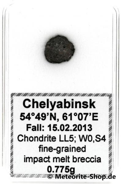 Chelyabinsk (Tscheljabinsk) Meteorit - 0,775 g