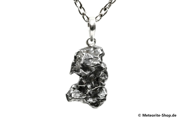 Eisen-Meteorit-Anhänger (Campo del Cielo   Natura   925er Silber) - 6,40 g
