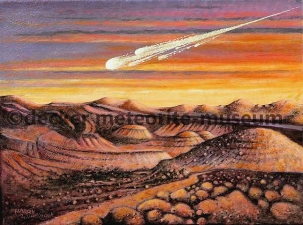 Tamdakht Meteoritenfall Gemälde