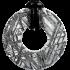 Kategorie Eisen-Meteorit-Anhänger (Muonionalusta | Donut | Gr. Ø | Rhodiniert)