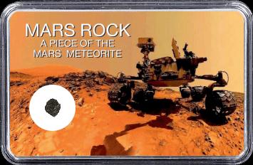 Mars Meteorit NWA 4925 (Motiv: Mars Rover Curiosity Selfie I)