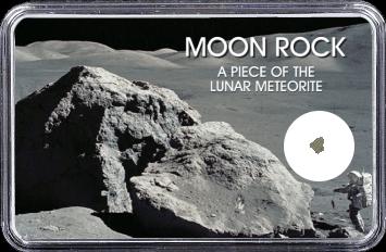 Mond Meteorit NWA 4881 (Motiv: Astronaut mit Mondgestein und Felsen)