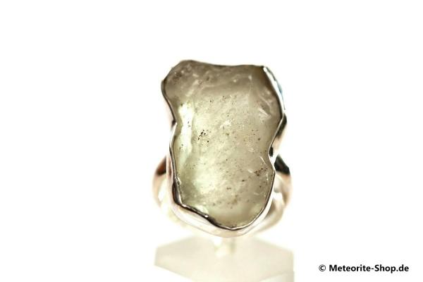 Libyscher Wüstenglas-Ring (Impaktglas | Natura | Gr. 56 | 925er Silber) - 7,20 g