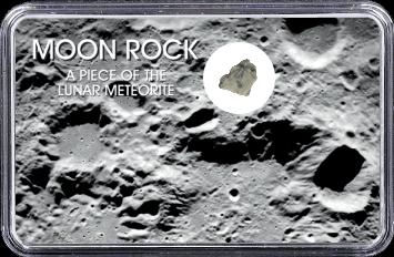 Mond Meteorit NWA 10317 (Motiv: Mond-Einschlagskrater und Mondgestein II)