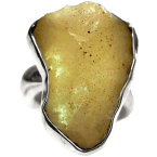Libysche Wüstenglas-Ringe (Impaktglas | Natura | 925er Silber)