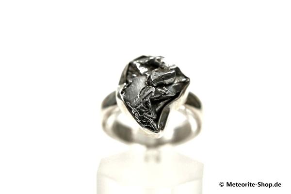 Eisen-Meteorit-Ring (Campo del Cielo | Gefasst | Gr. 54 | 925er Silber) - 5,70 g