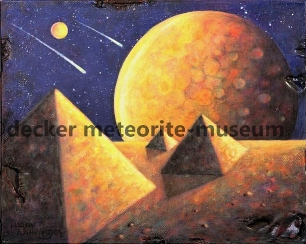 Gebel Kamil Meteoritenfall Gemälde (Motiv II)