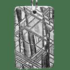 Eisen-Meteorit-Anhänger (Muonionalusta | Rechteck | Rhodiniert)