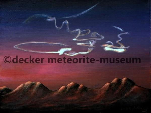 Almahata Sitta Meteoritenfall Gemälde (Motiv I)