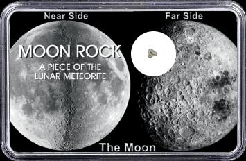 Mond Meteorit NWA 10317 (Motiv: Mond-Vorder- und Rückseite)