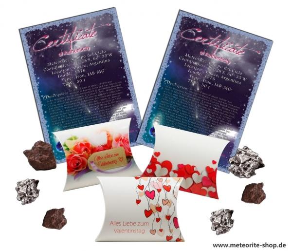 Sternschnuppe zum Valentinstag: Als romantisches Valentinstagsgeschenk in Geschenkbox mit Zertifikat & Widmung