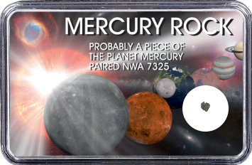 Merkur Meteorit NWA 7325 (Motiv: Sonnensystem Planeten I)