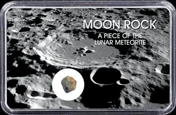 Mond Meteorit NWA 10317 (Motiv: Mond-Einschlagskrater und Mondgestein I)