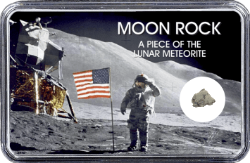 Mond Meteorit NWA 10317 (Motiv: Astronaut mit US-Flagge II)