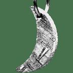 Eisen-Meteorit-Anhänger (Muonionalusta | Mondsichel | Rhodiniert)