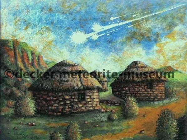 Thuathe Meteoritenfall Gemälde